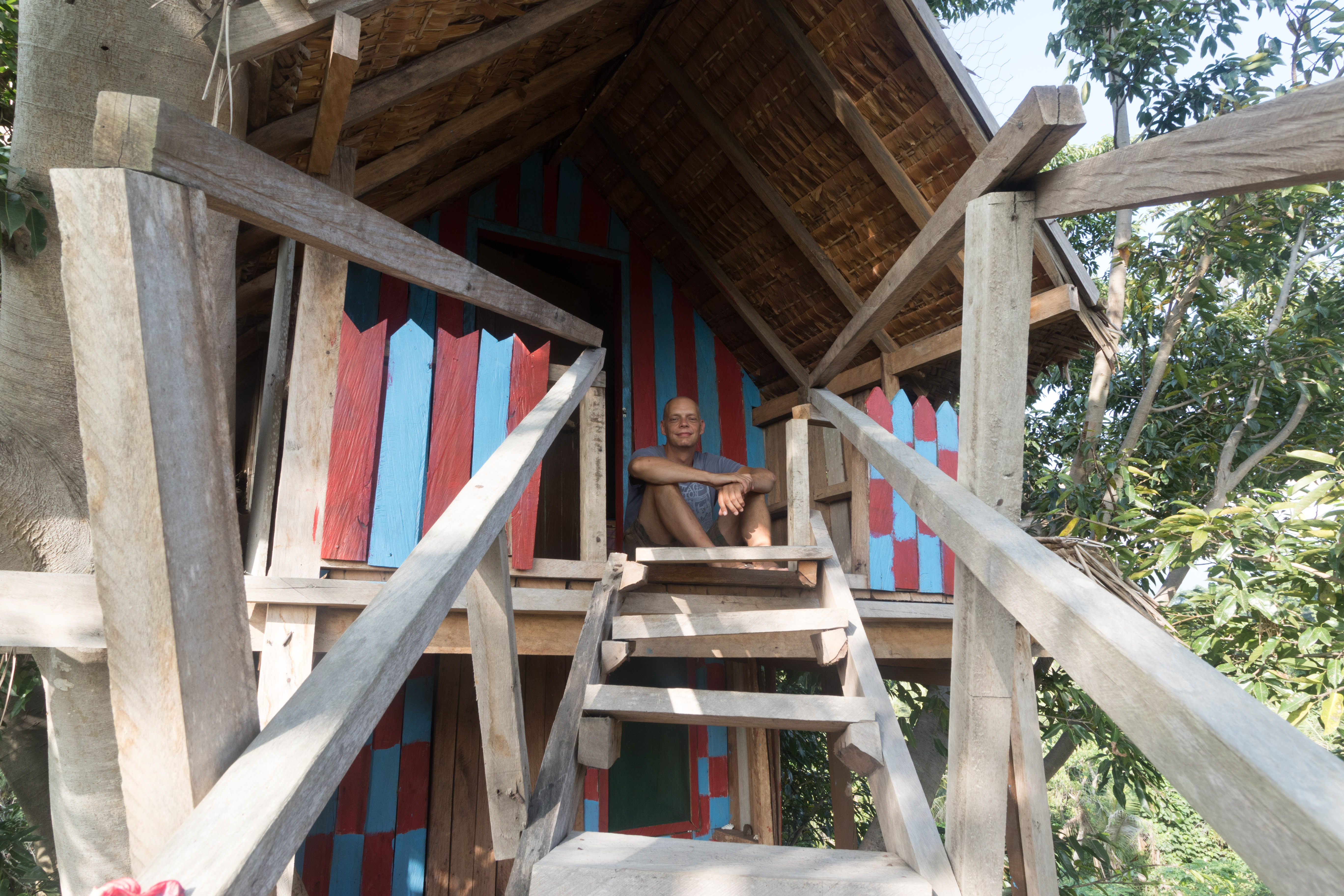 Yvonderweg - Avontuurlijk Tanna - Tom in boomhut Yasur View Lodge