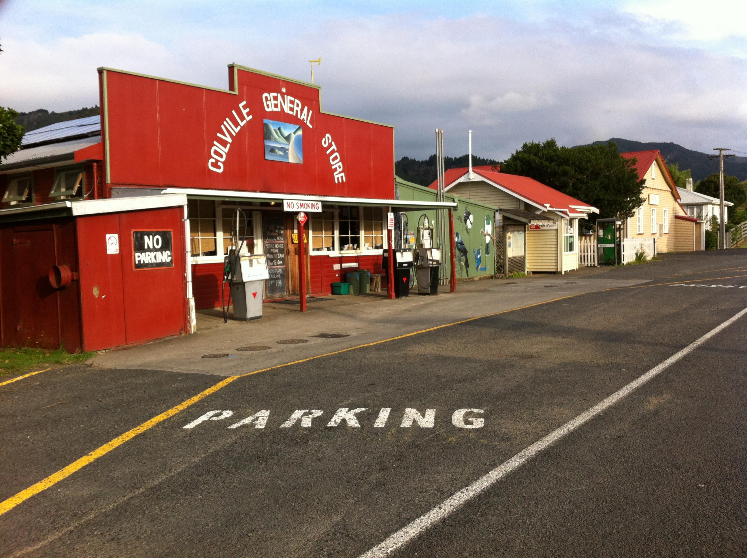 Yvonderweg - Hoe en wat in Nieuw Zeeland - Colville general store