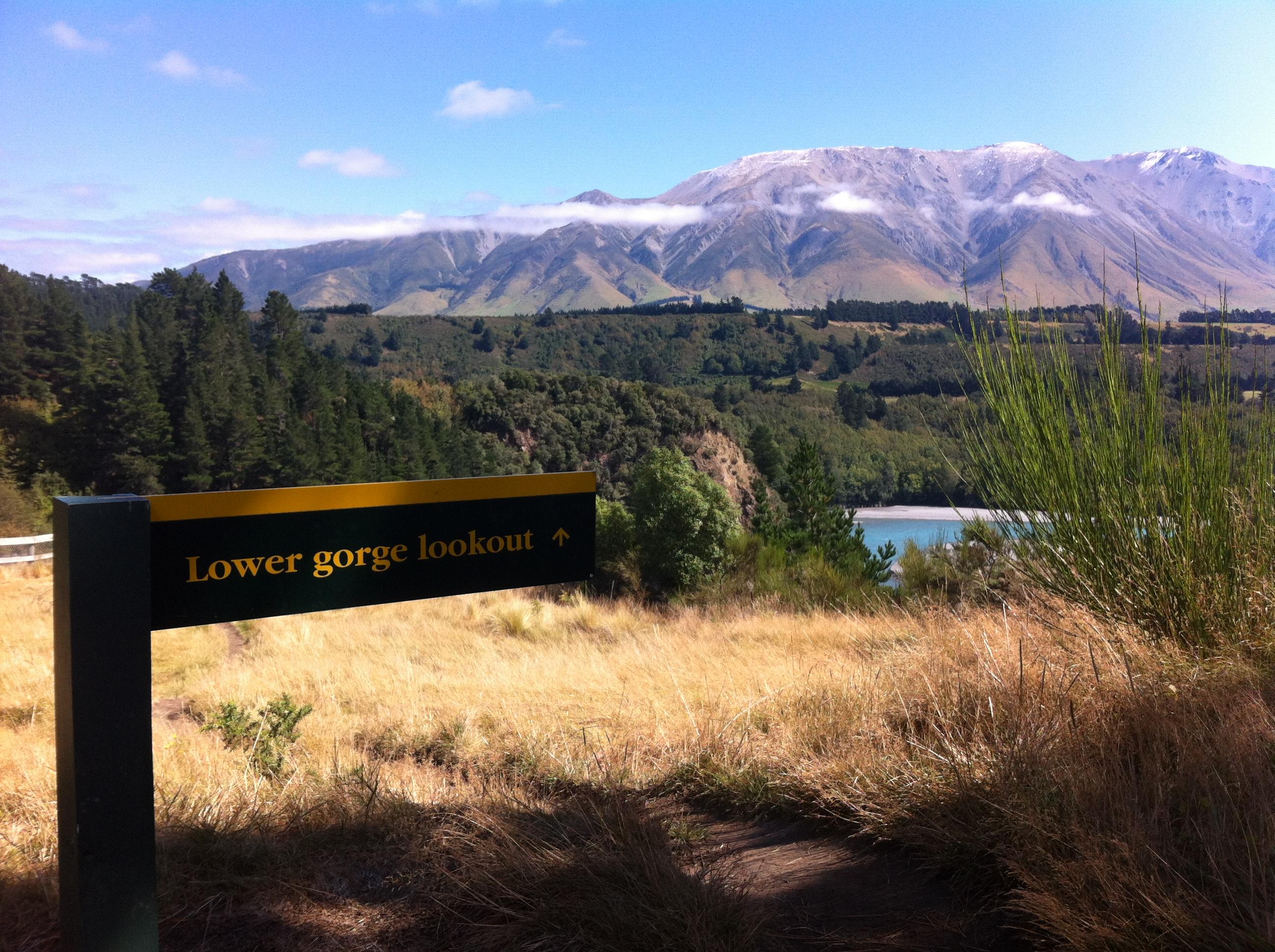 Yvonderweg - Hoe en wat in Nieuw Zeeland - Rakaia Gorge lower lookout
