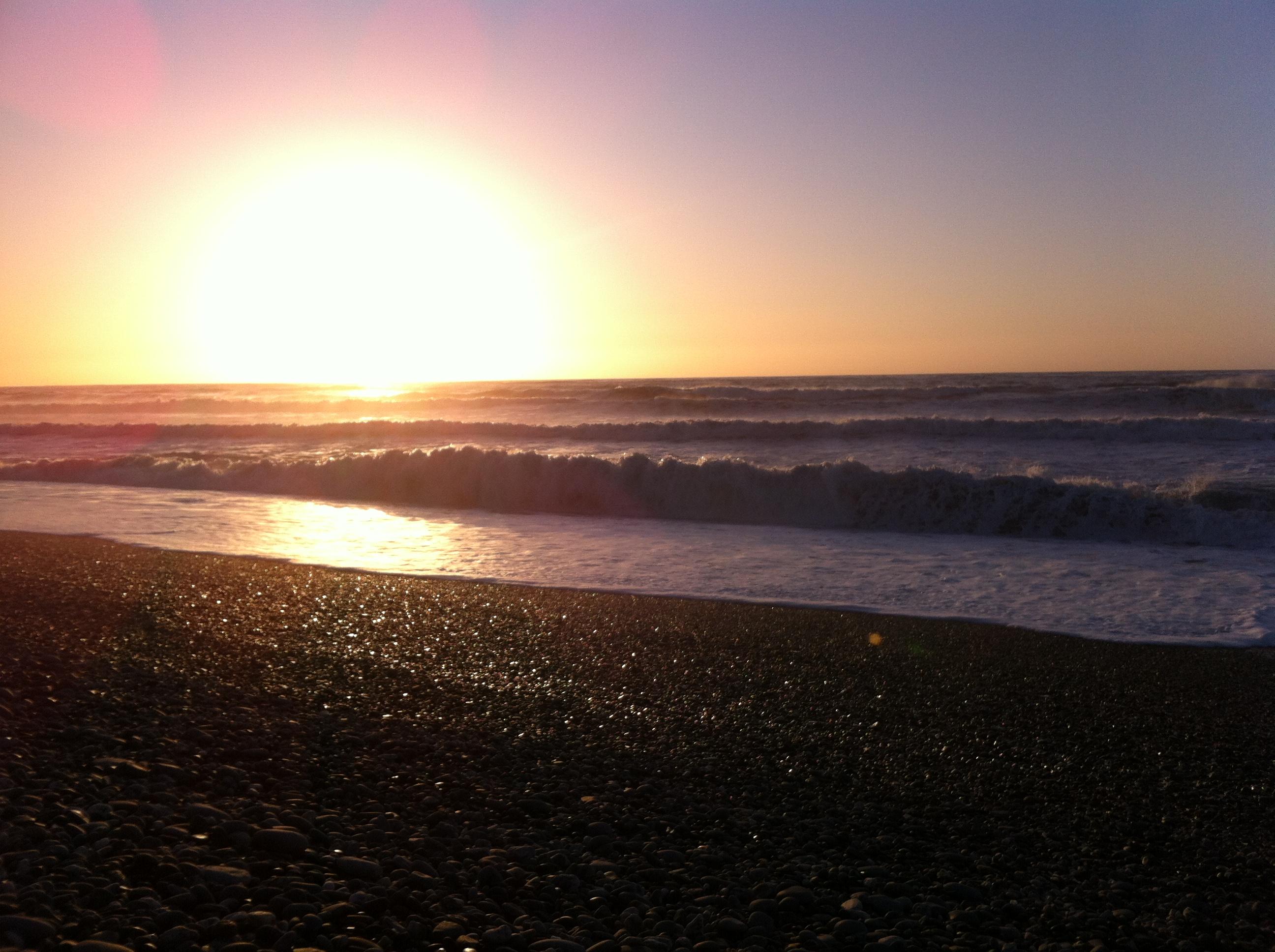 Yvonderweg - Hoe en wat in Nieuw Zeeland - Zonsondergang