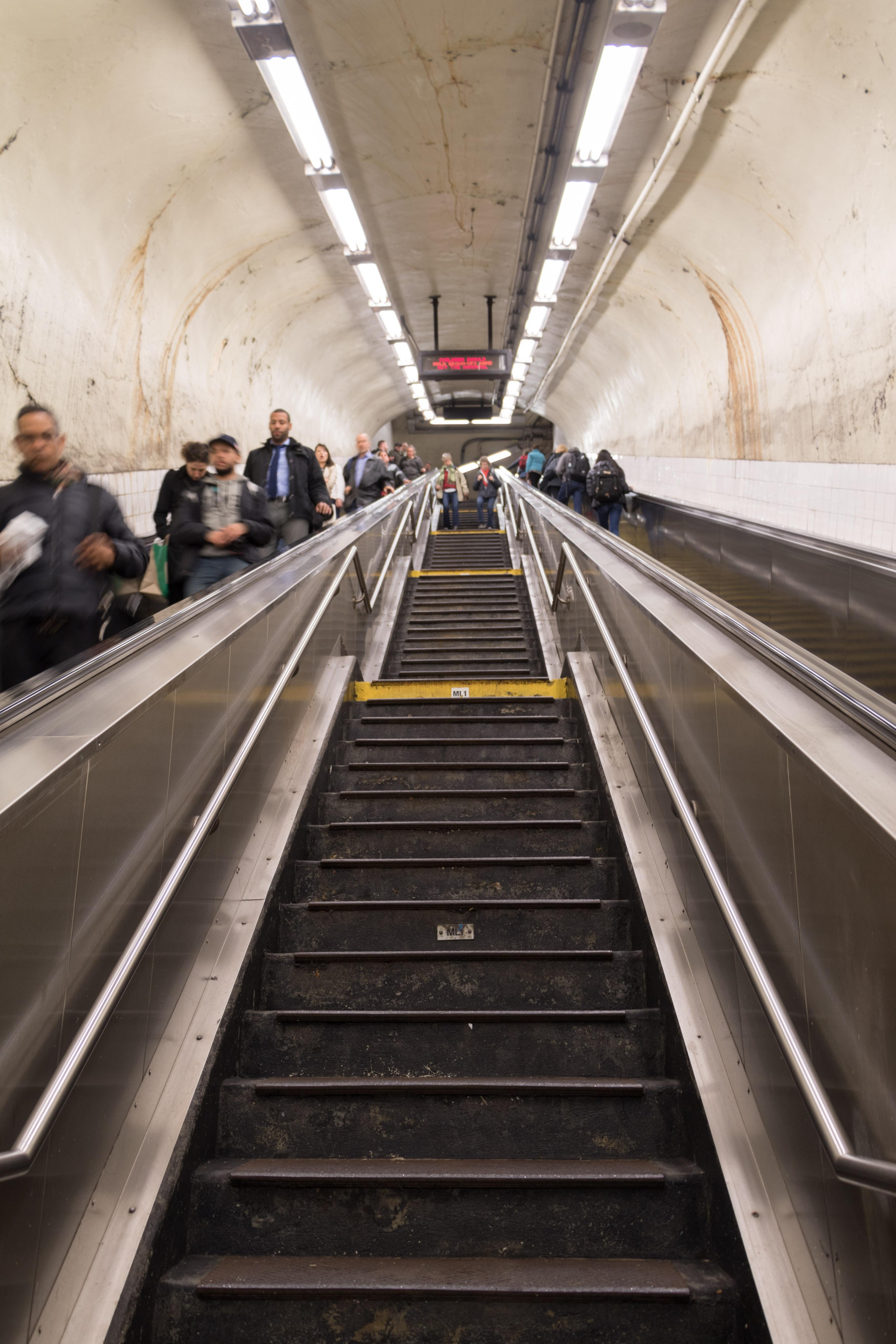 Yvonderweg - Fit blijven op vakantie - Trap metro New York