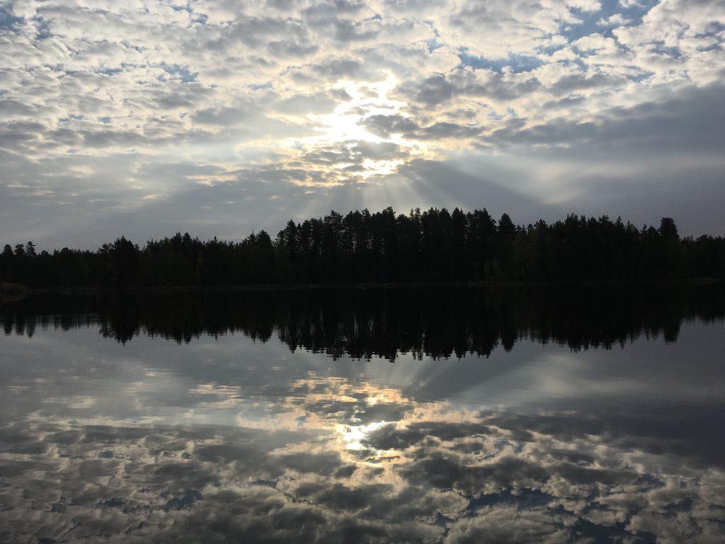 Zonsopkomst bij Glaskogens Naturreservat.