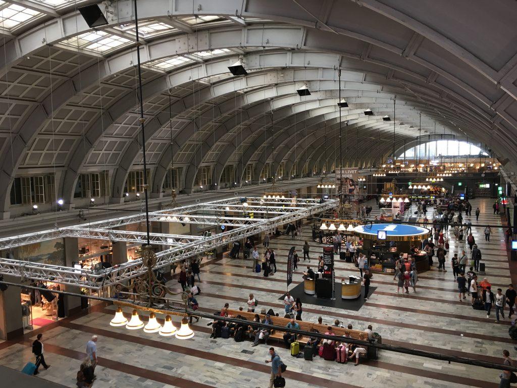 Het centraal station van Stockholm.