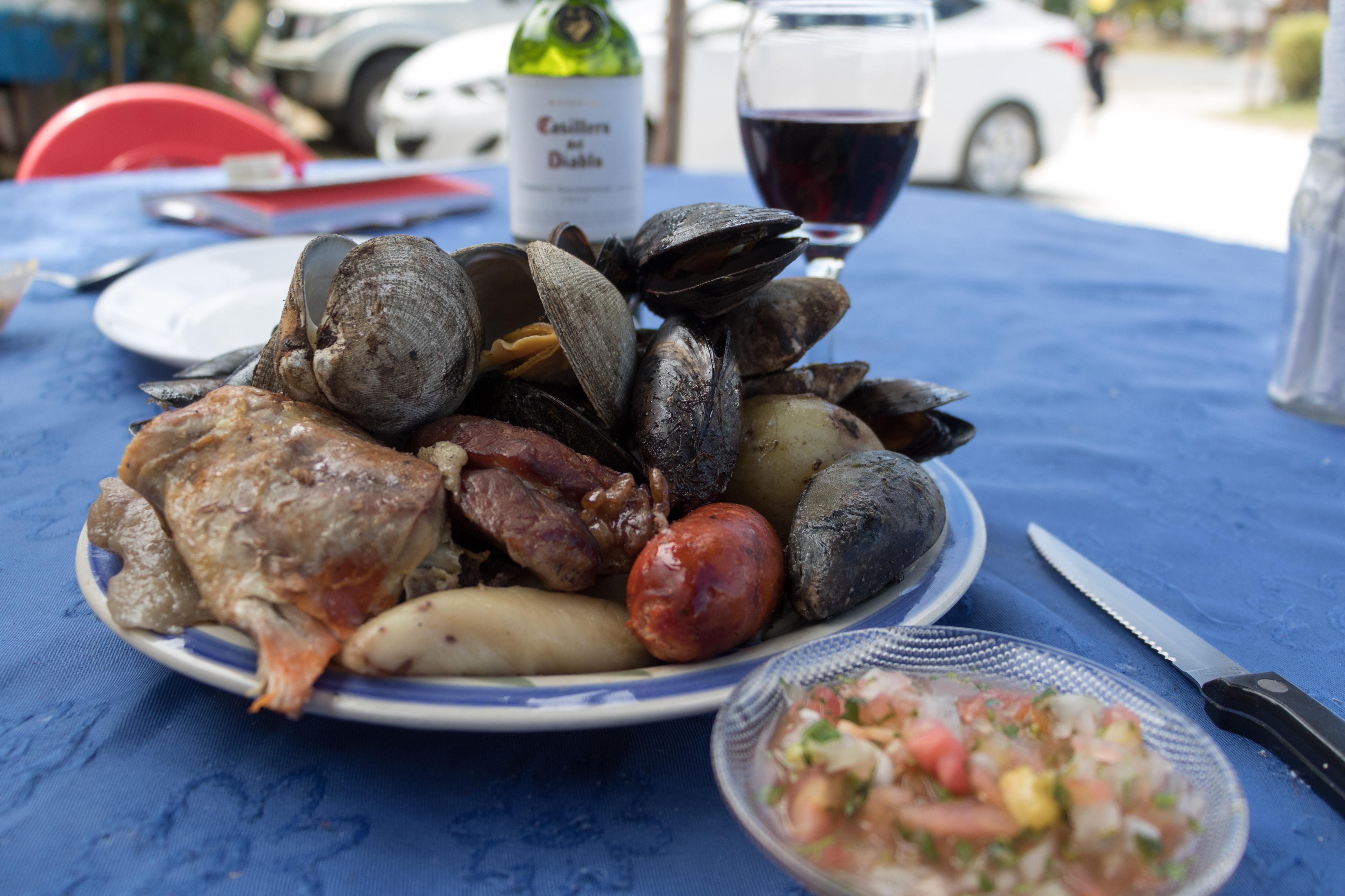 Curanto eten op Chiloé