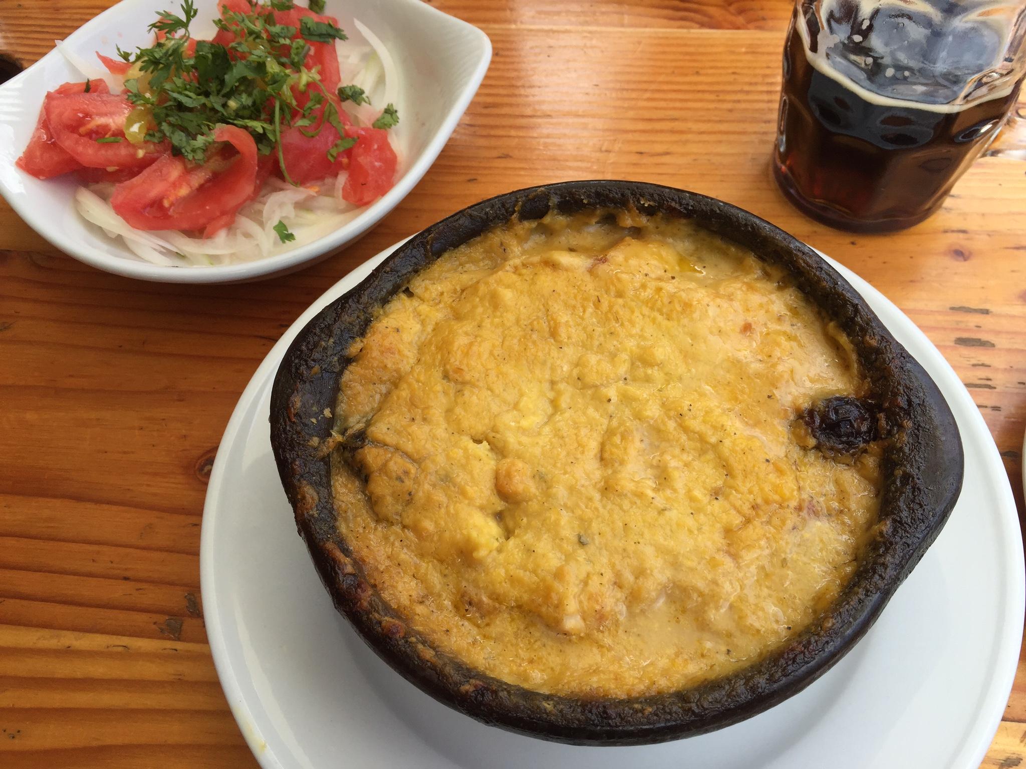 Yvonderweg - Eten in Chili - de lokale keuken - Pastel de choclo
