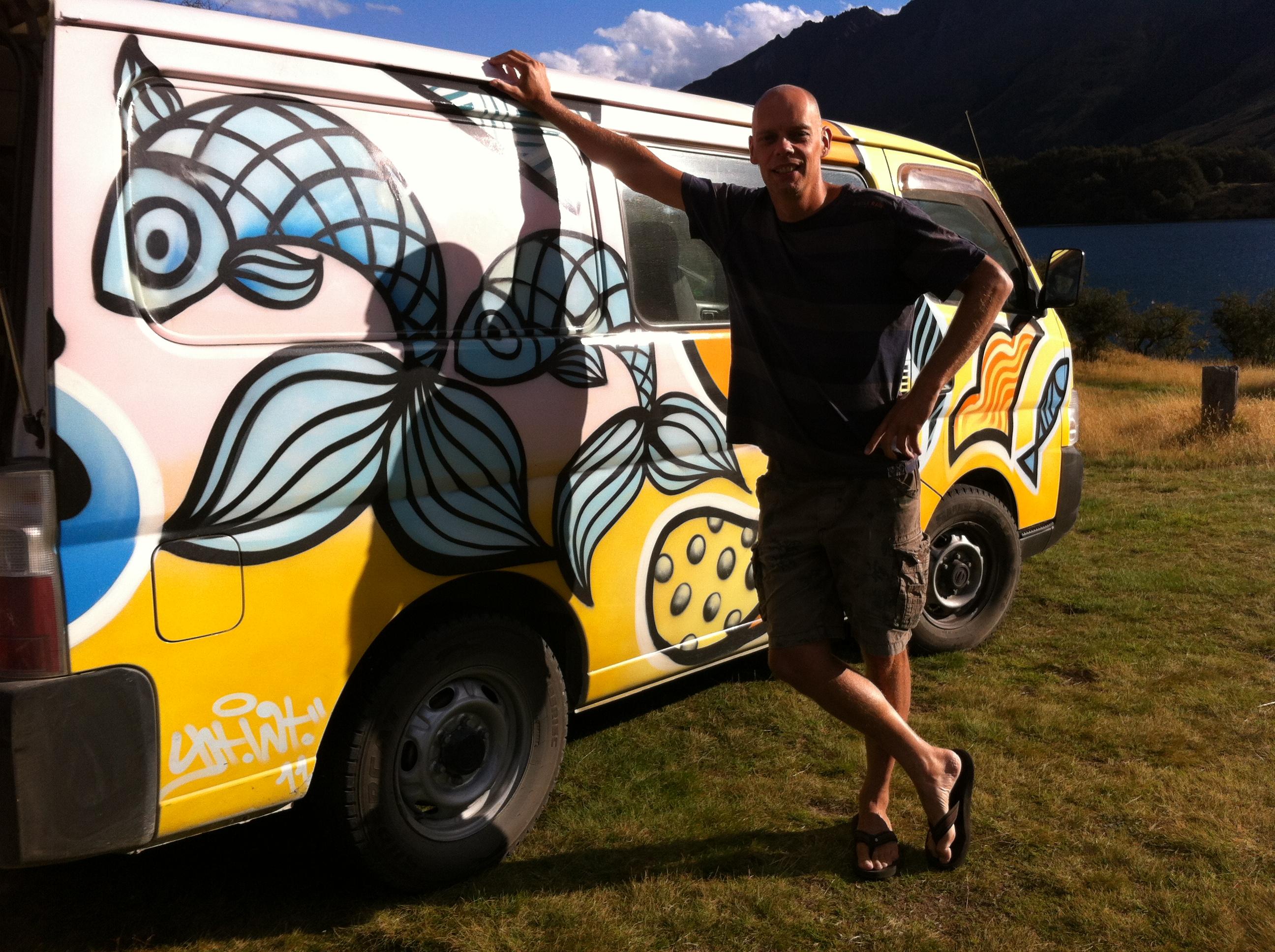 Yvonderweg - Hoe en wat in Nieuw Zeeland - Tom en onze Escape campervan