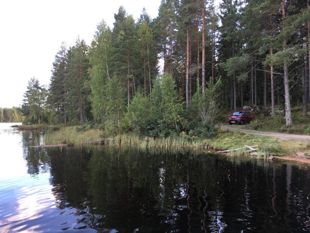 Prachtige camperplaats in Glaskogens Naturreservat.