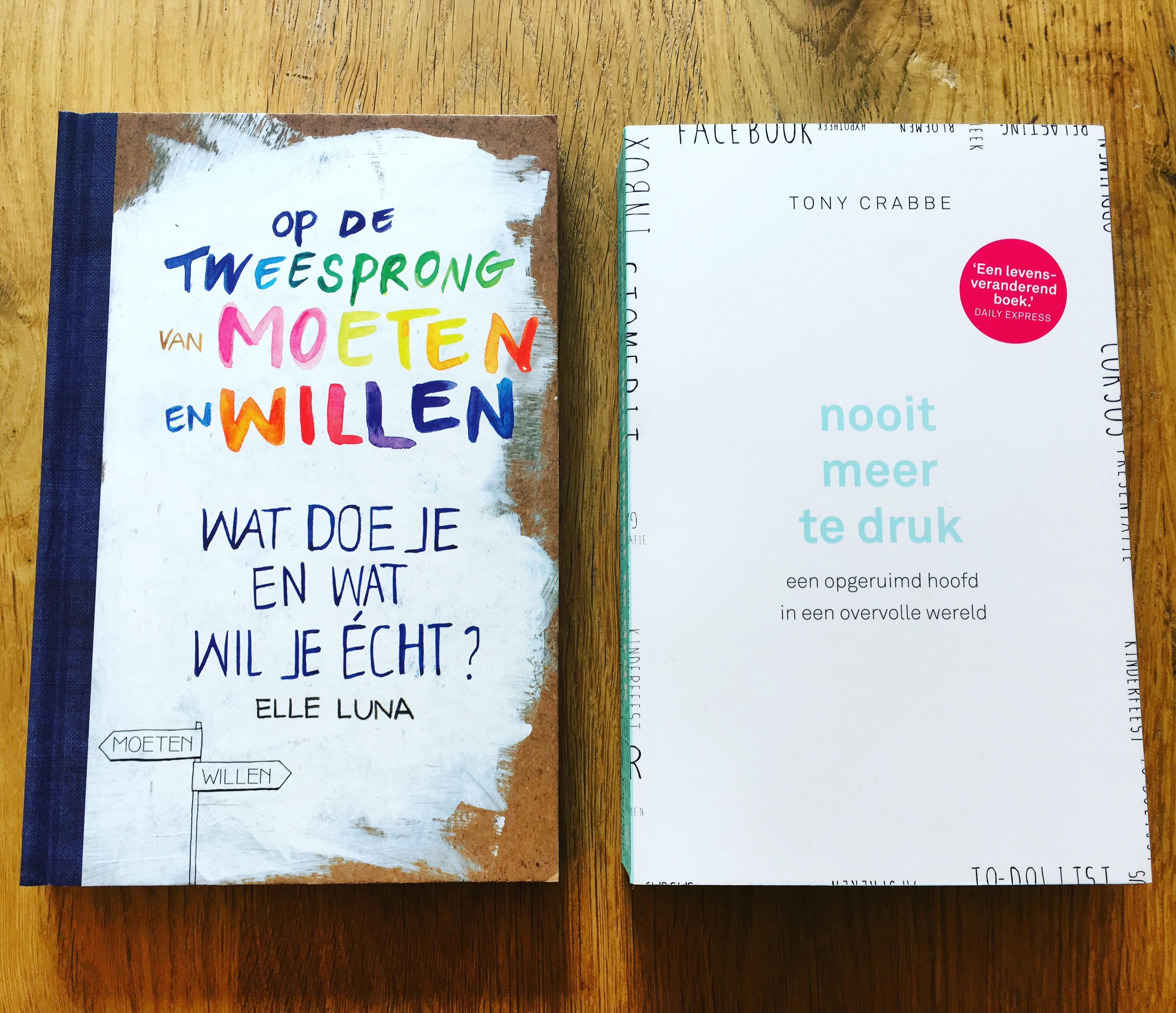 """Yvonderweg - Weekboek #7 - Nieuwe boeken - """"Op de tweesprong van moeten en willen"""" en """"Nooit meer te druk"""""""