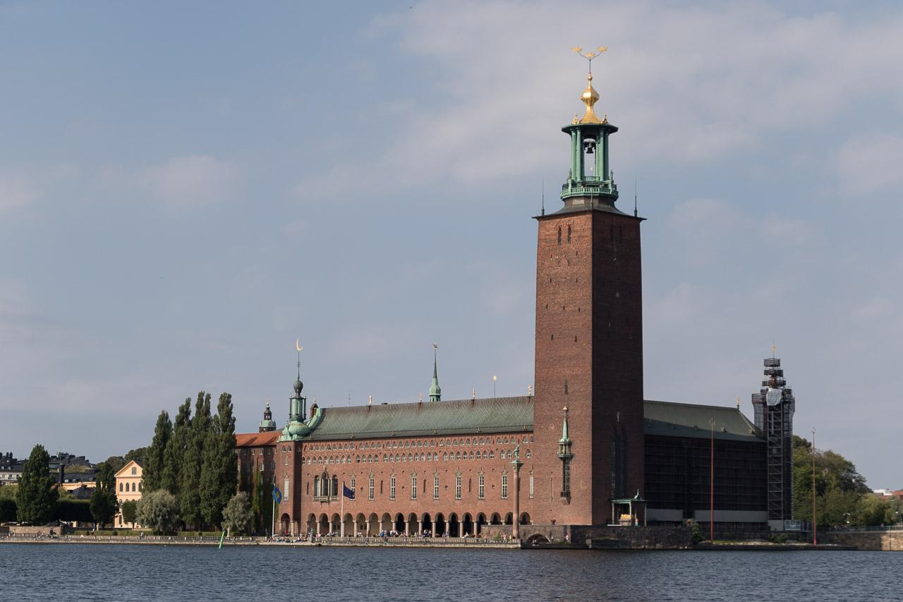 Het stadhuis (stadshuset) van Stockholm.