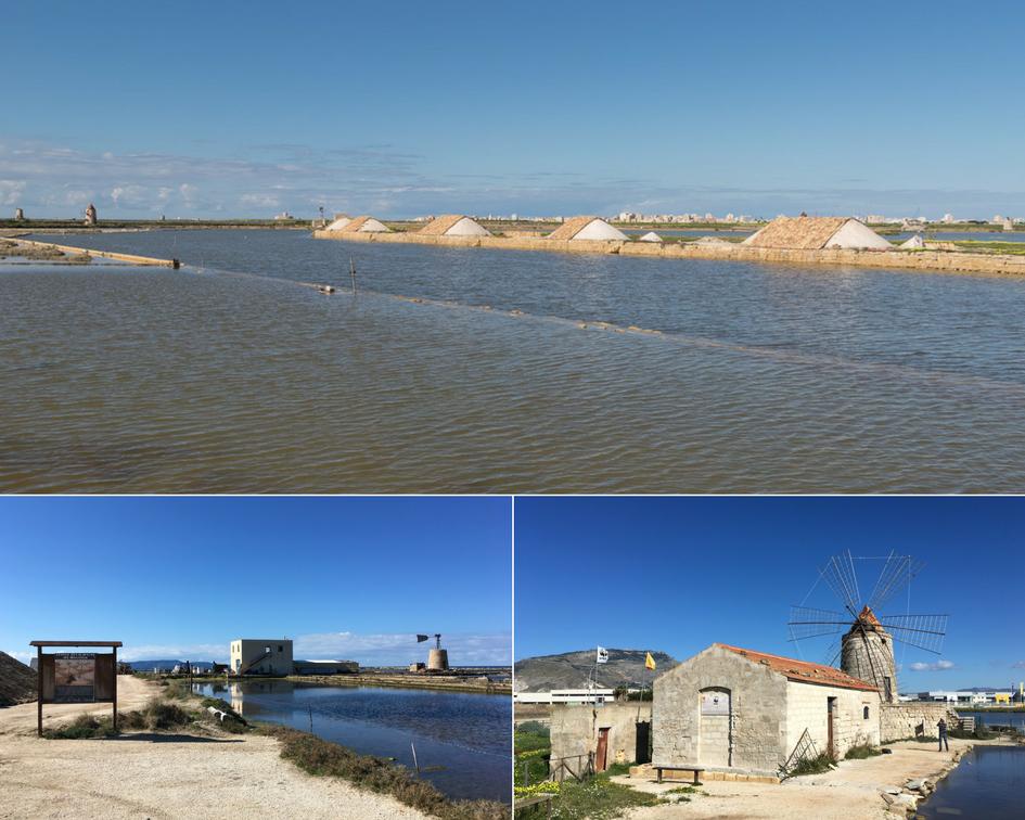 Bezoek aan de zoutmeren bij Trapani.