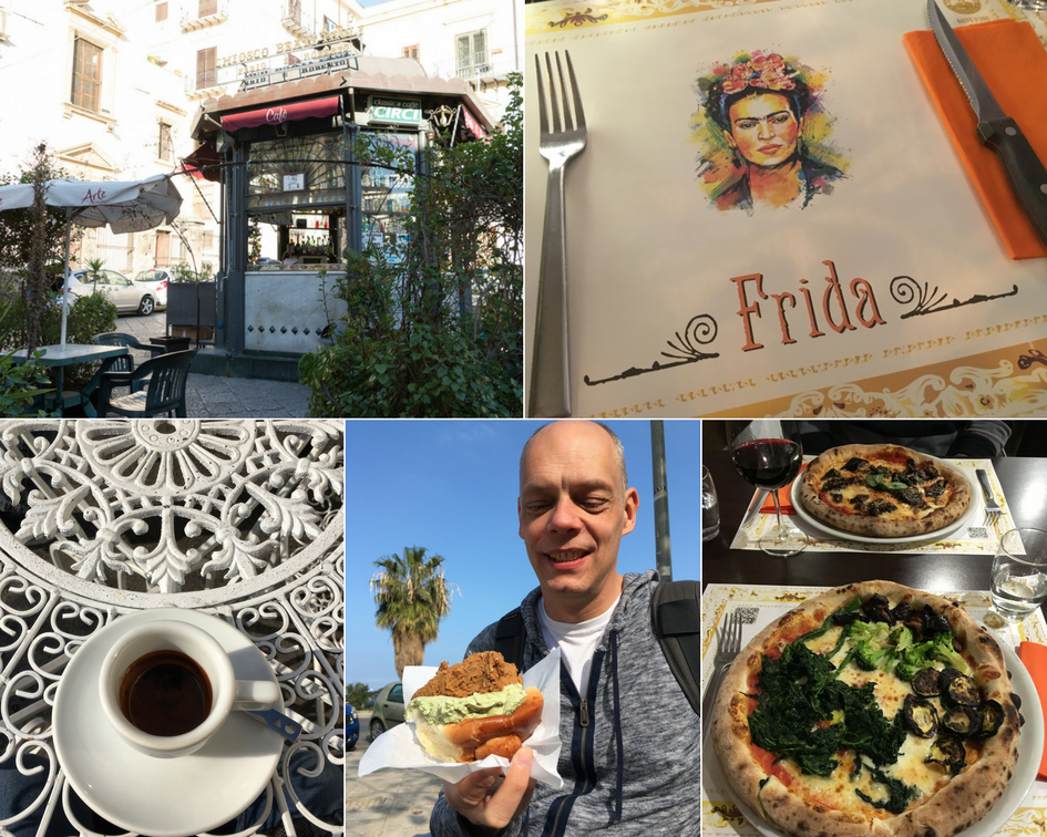 Eten en drinken in Palermo.