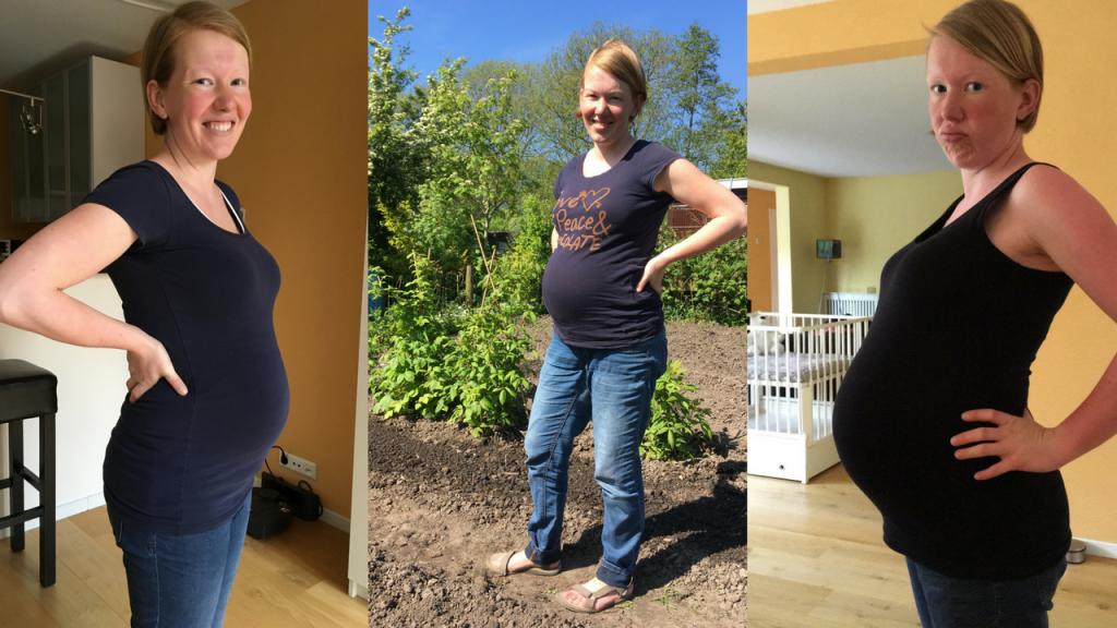 Progressie zwangere buik