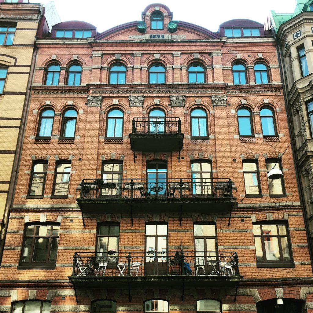 Mooie gevel in het centrum van Goteborg