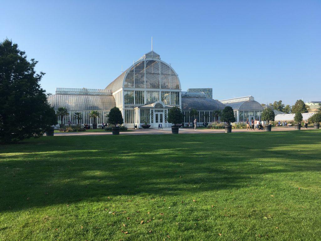 De orangerie in de botanische tuinen
